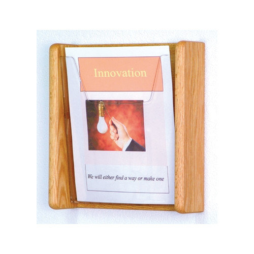 Wooden Mallet 1 Pocket Wall Display
