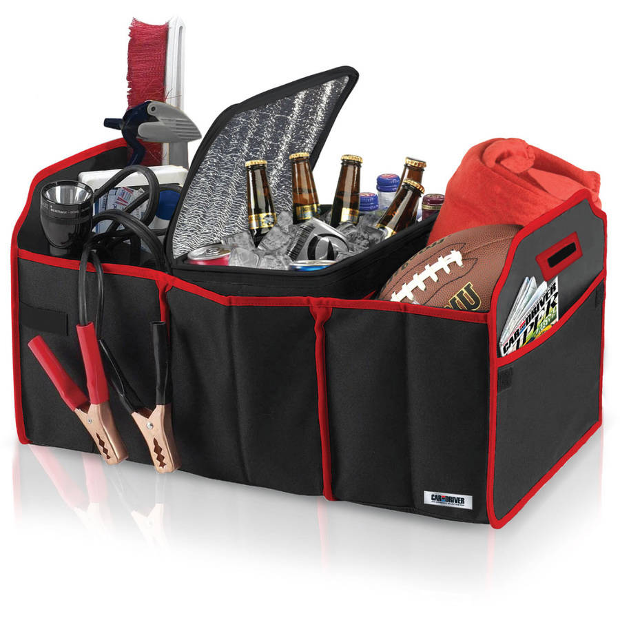 Car and Driver Collapsible Trunk Organizer and Cooler Set