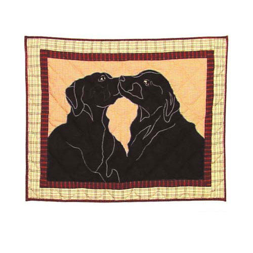 Patch Magic Black Lab Pillow Sham