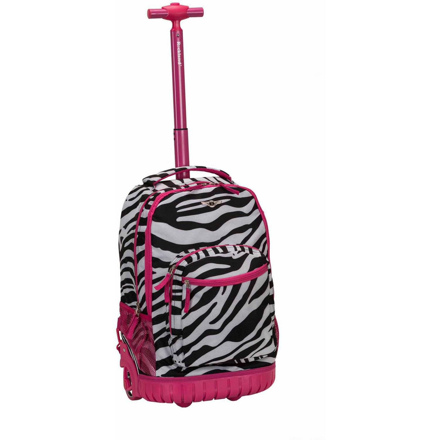 "Rockland 19"" Rolling Backpack, Pink"