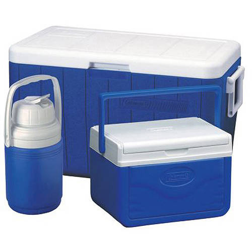 Coleman 48-Quart Cooler with 5-Quart Cooler, 1/3-Gallon Jug
