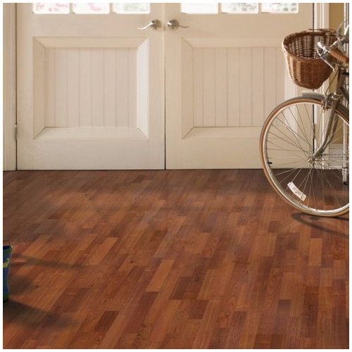 Mohawk Flooring Festivalle 8'' x 47'' x 7mm Cherry Laminate in Sunset American Cherry