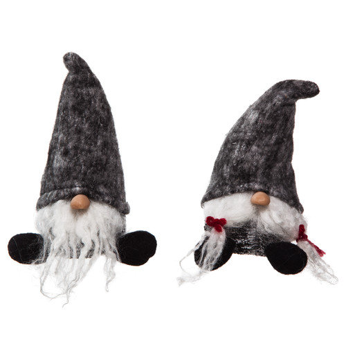 Cypress Home 2 Piece Plush Short Santa Set (Set of 2)