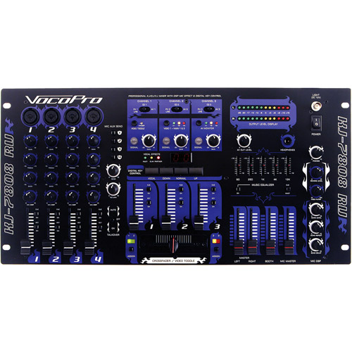 VocoPro KJ7808RV Karaoke Video and DJ Mixer