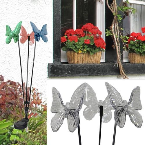 Westinghouse Color Changing Yard Light 3 Butterflies LED Solar Outdoor Stake