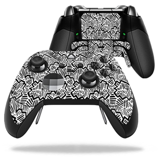MightySkins Protective Vinyl Skin Decal for Microsoft Xbox One Elite Wireless Controller case wrap cover sticker skins Abstract Black