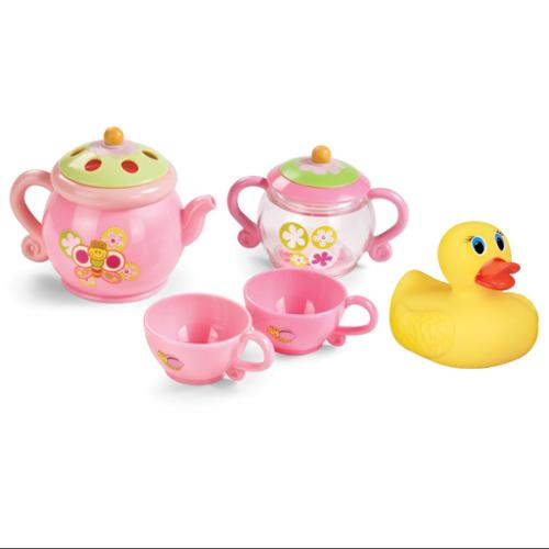 Summer Infant Tub Time Tea Party Set with White Hot Bath Duck