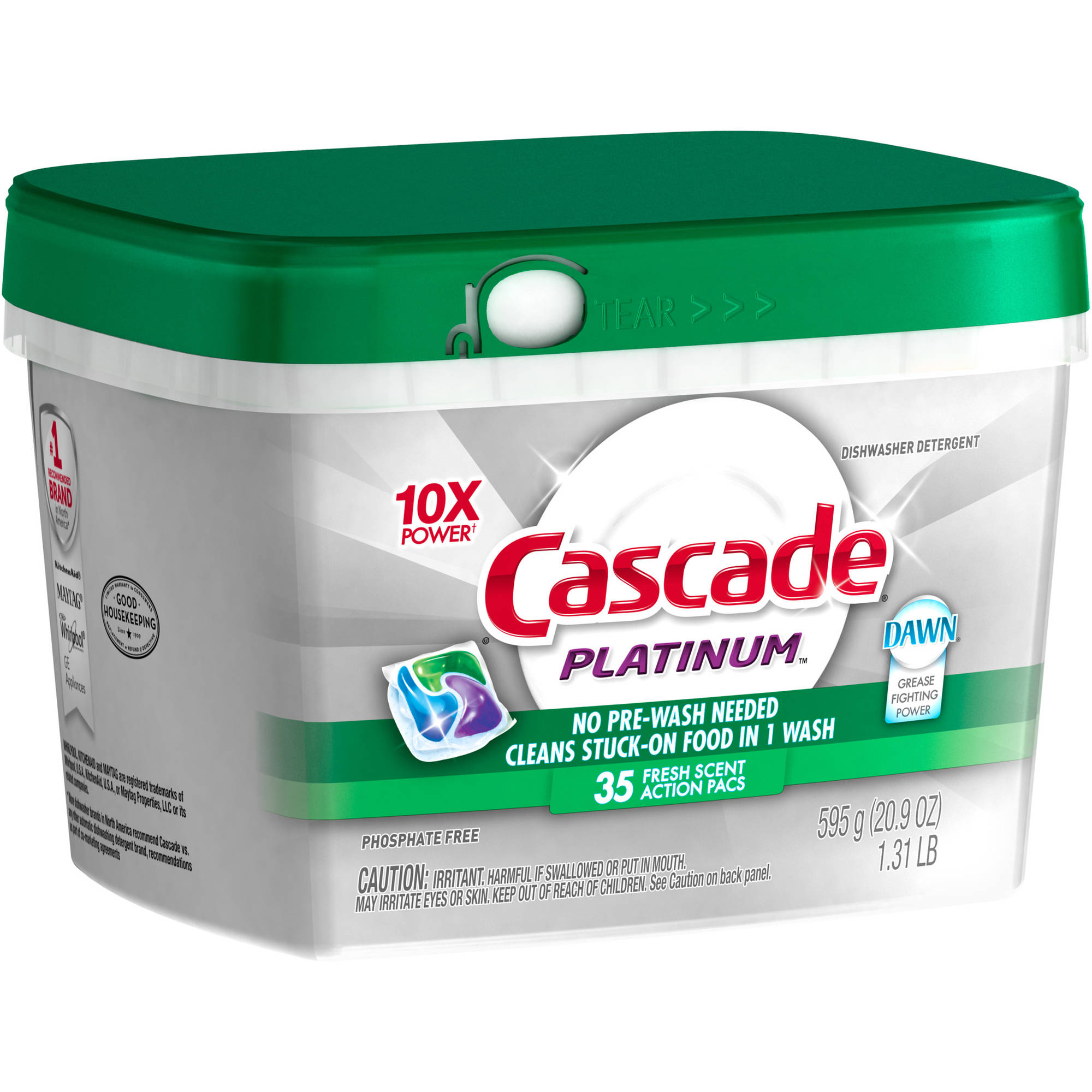 Cascade Platinum ActionPacs Dishwasher Detergent Fresh Scent (choose your size)