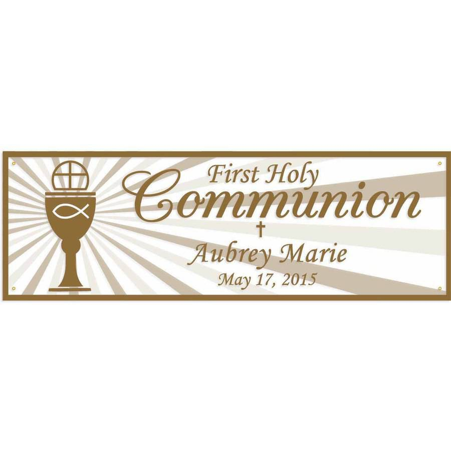 Personalized First Communion Banner