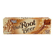Great Value Diet Root Beer, 12 fl oz, 12 pack