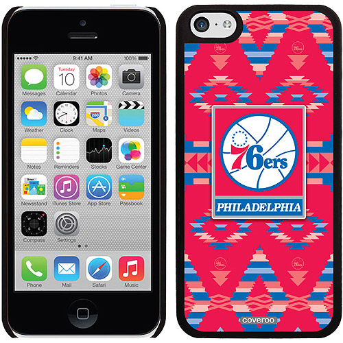 Philadelphia 76ers Tribal Print Design on Apple iPhone 5c Thinshield Snap-On Case by Coveroo