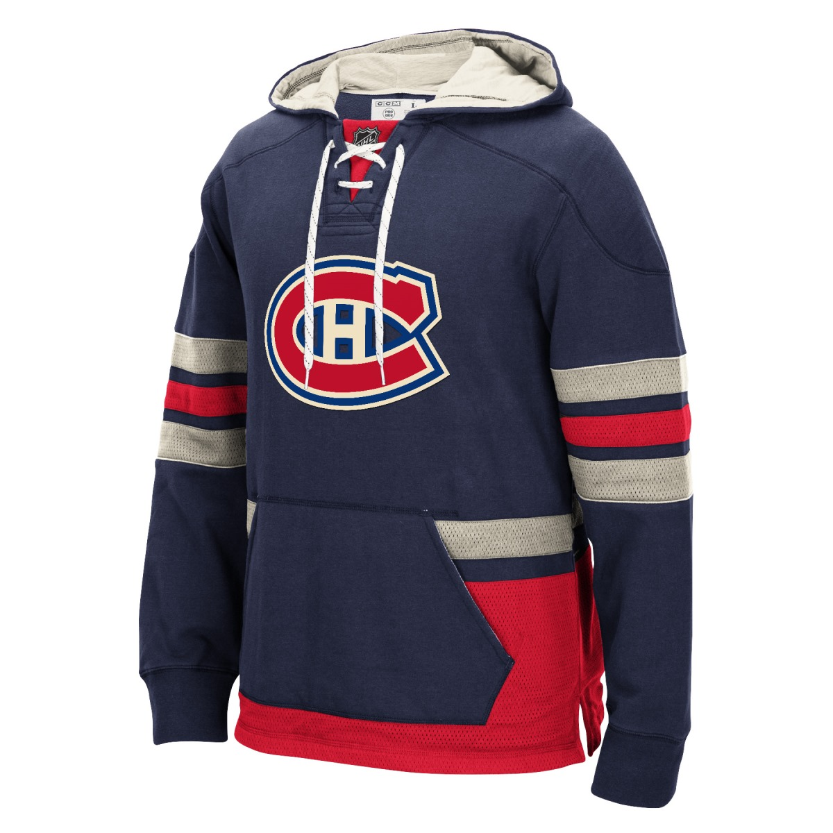 "Montreal Canadiens Men's NHL CCM ""Lace Em Up"" Pullover Hooded Sweatshirt"
