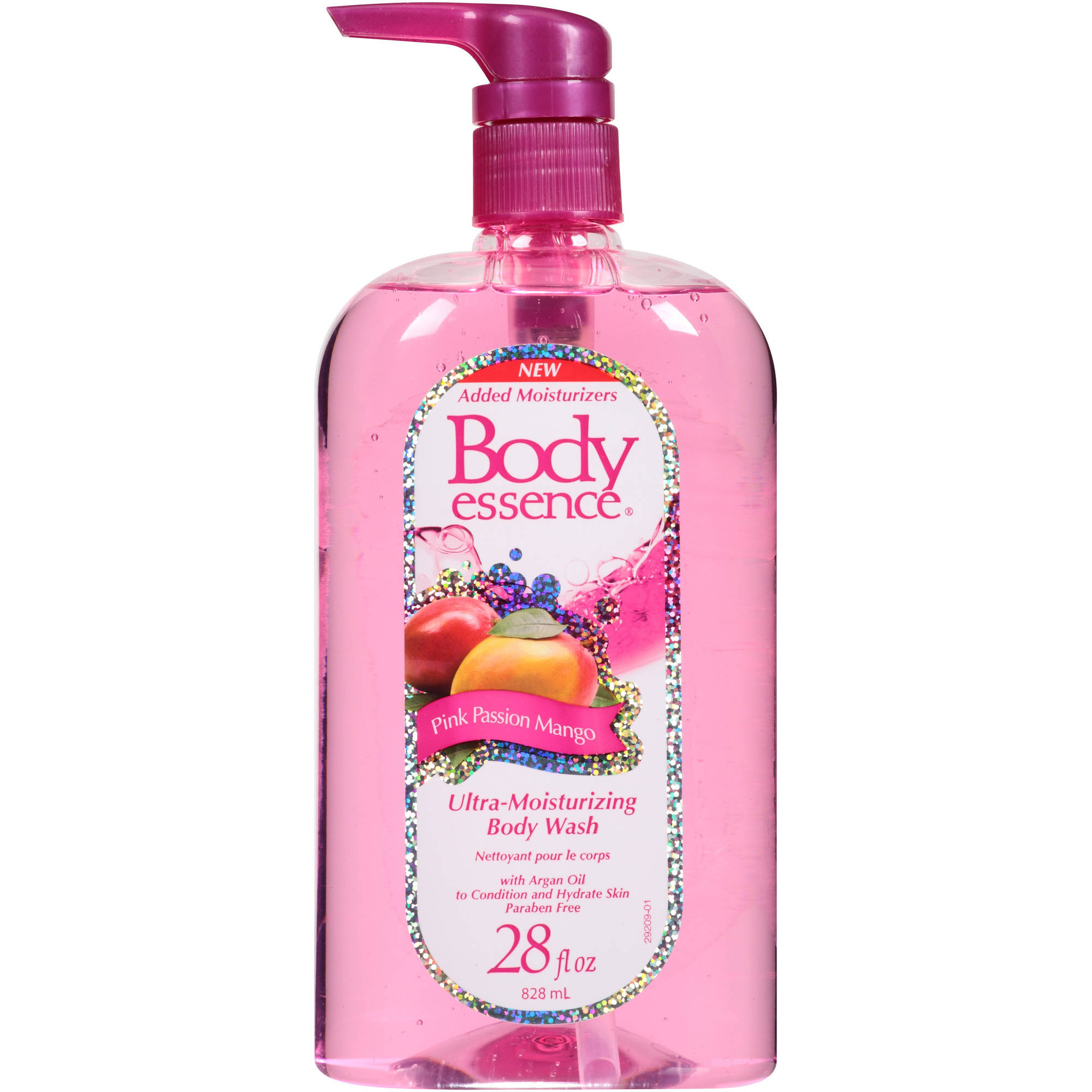 Body Essence Pink Passion Mango Ultra-Moisturizing Body Wash, 28 fl oz