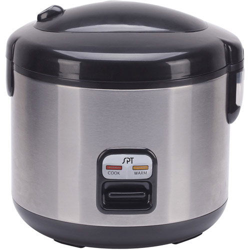 Sunpentown 6-Cup Rice Cooker, Stainless Steel