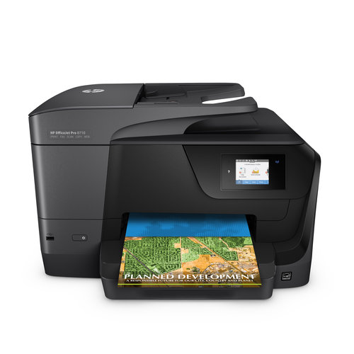 HP M9L66A#B1H Officejet Pro 8710 Inkjet Multifunction All-in-One Printer/Copier/Scanner/Fax Machine (Replaces Officejet Pro 8610)