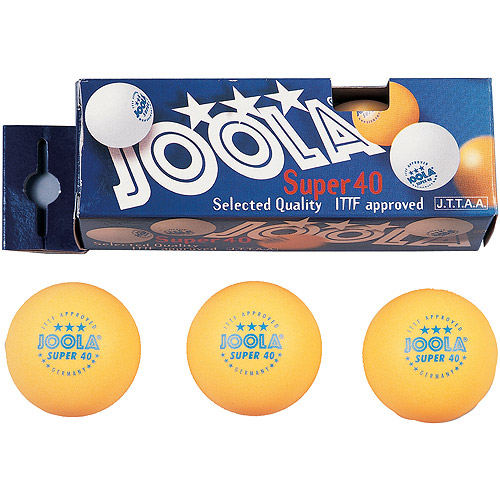 Joola Super 3-Star, Orange, 40mm, 3 Balls