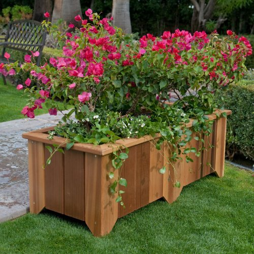 Wood Country Rectangle Cedar Wood Pocatello Planter
