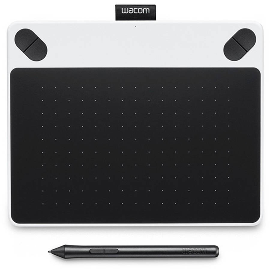 Wacom White Intuos Draw Small Pen and Touch Tablet with Software