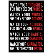 Watch Your Thoughts Motivational Poster - 13x19