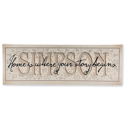 "Personalized ""Home is Where Your Story Begins"" Canvas"