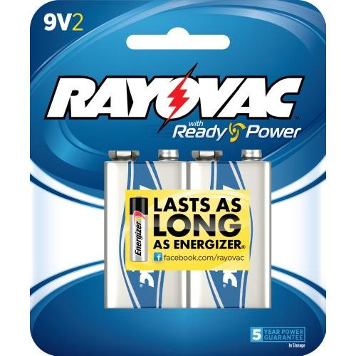 Rayovac A16042D General Purpose Battery - Alkaline - 9 V DC