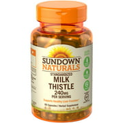 Sundown Naturals Milk Thistle XTRA Herbal Supplement Capsules, 240mg, 60 count