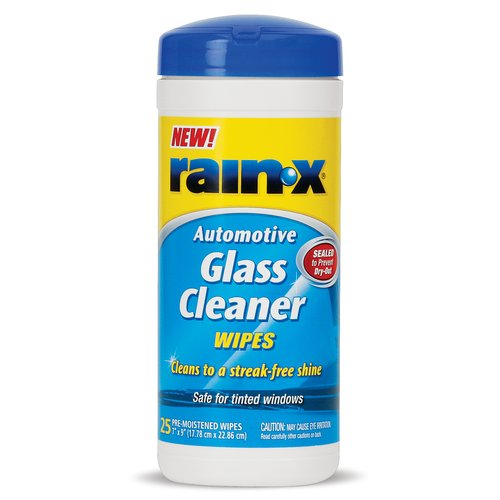 Rain-X Glass Cleaner Wipes, 25-Count