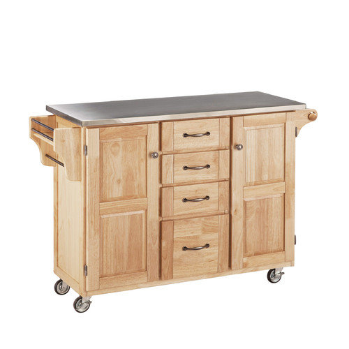 Home Styles Create-a-Cart Kitchen Island with Stainless Steel Top