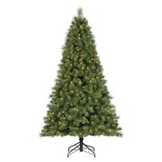 Home Heritage 9' Artificial Cascade Pine Christmas Tree w/ Color Changing Lights