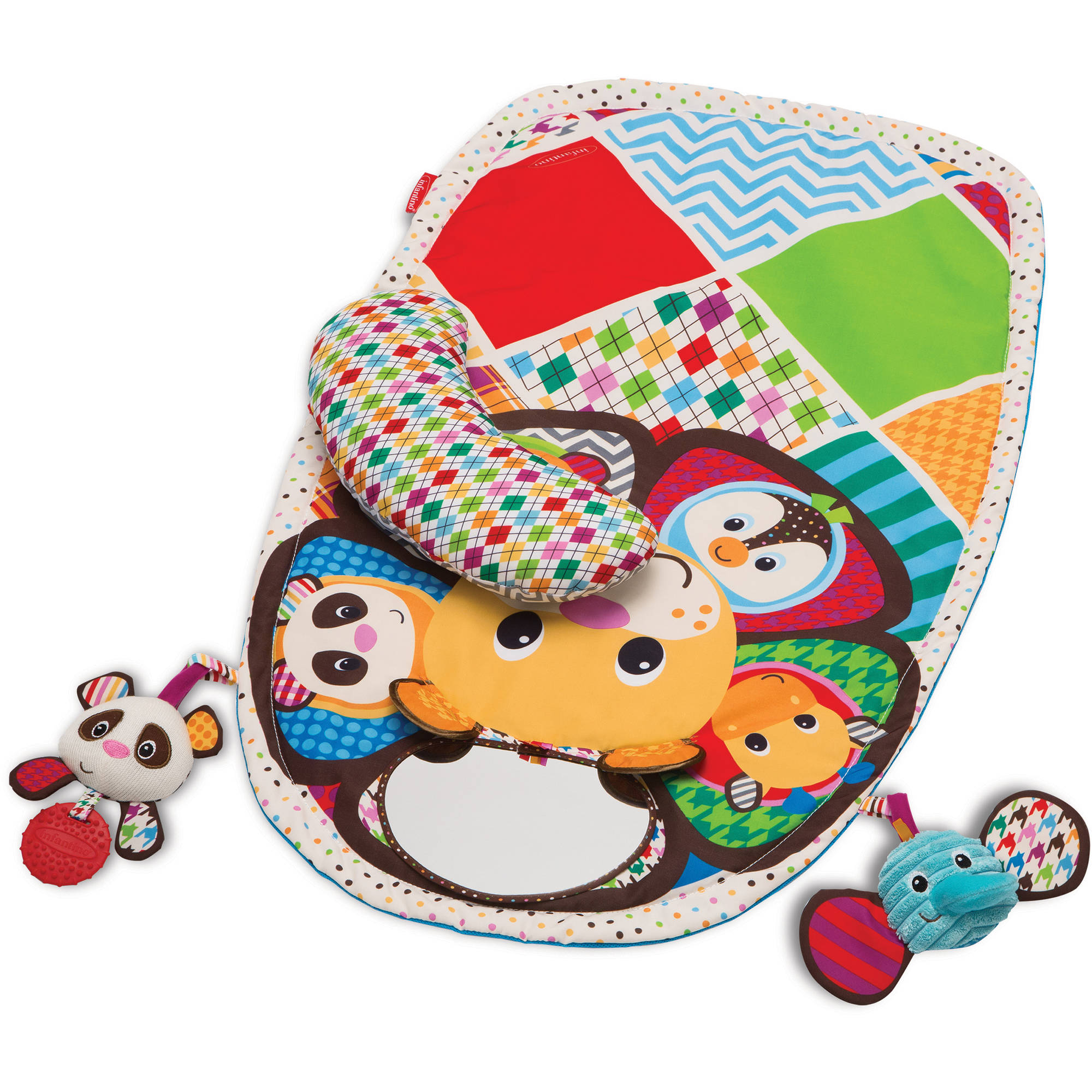 Infantino See Play Go Peek & Play Tummy Time Activity Mat