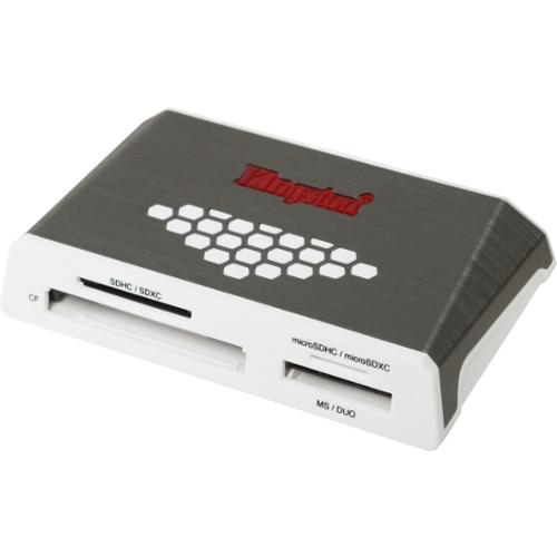Kingston USB 3.0 High-Speed Media Reader - CompactFlash Type I, CompactFlash Type II, SD, SDHC, SDXC, microSD, microSDHC
