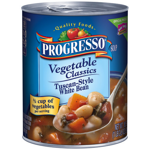 Progresso? Vegetable Classics Tuscan-Style White Bean Soup 18.5 oz. Can
