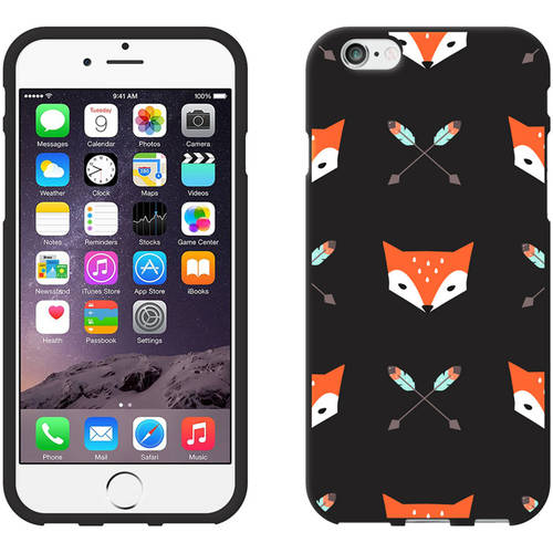 OTM Hipster Prints Black Phone Case for Apple iPhone 6/6S, Mr. Fox