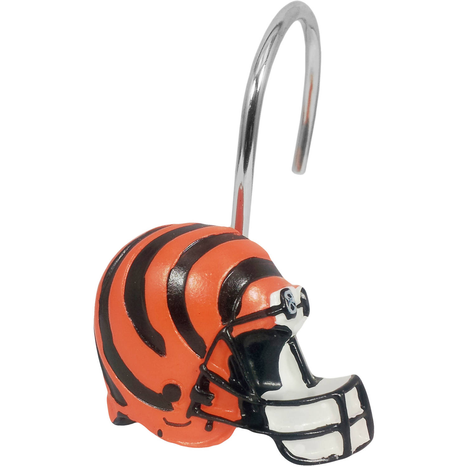 NFL 12-Piece Shower Curtain Ring Set, Bengals