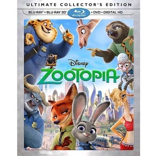 Zootopia (3D + Blu-ray + DVD + Digital HD)
