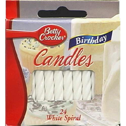 Candle Brthdy White Med 1 EA -Pack Of 12