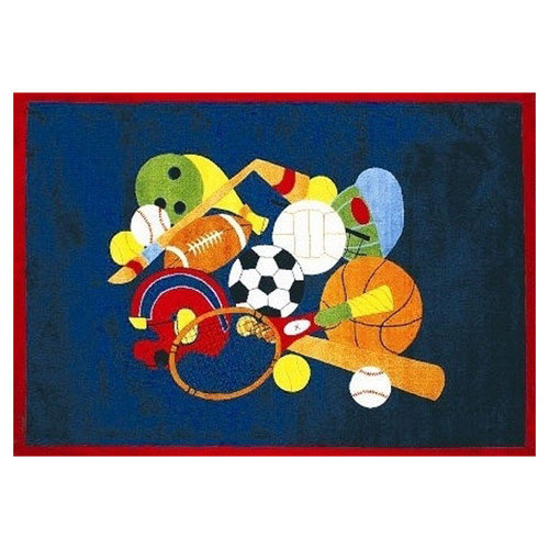 Fun Rugs Fun Time American Sports Area Rug