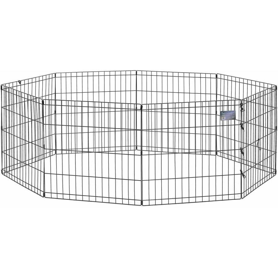 "Midwest 24"" Black Exercise Pen, No Door"