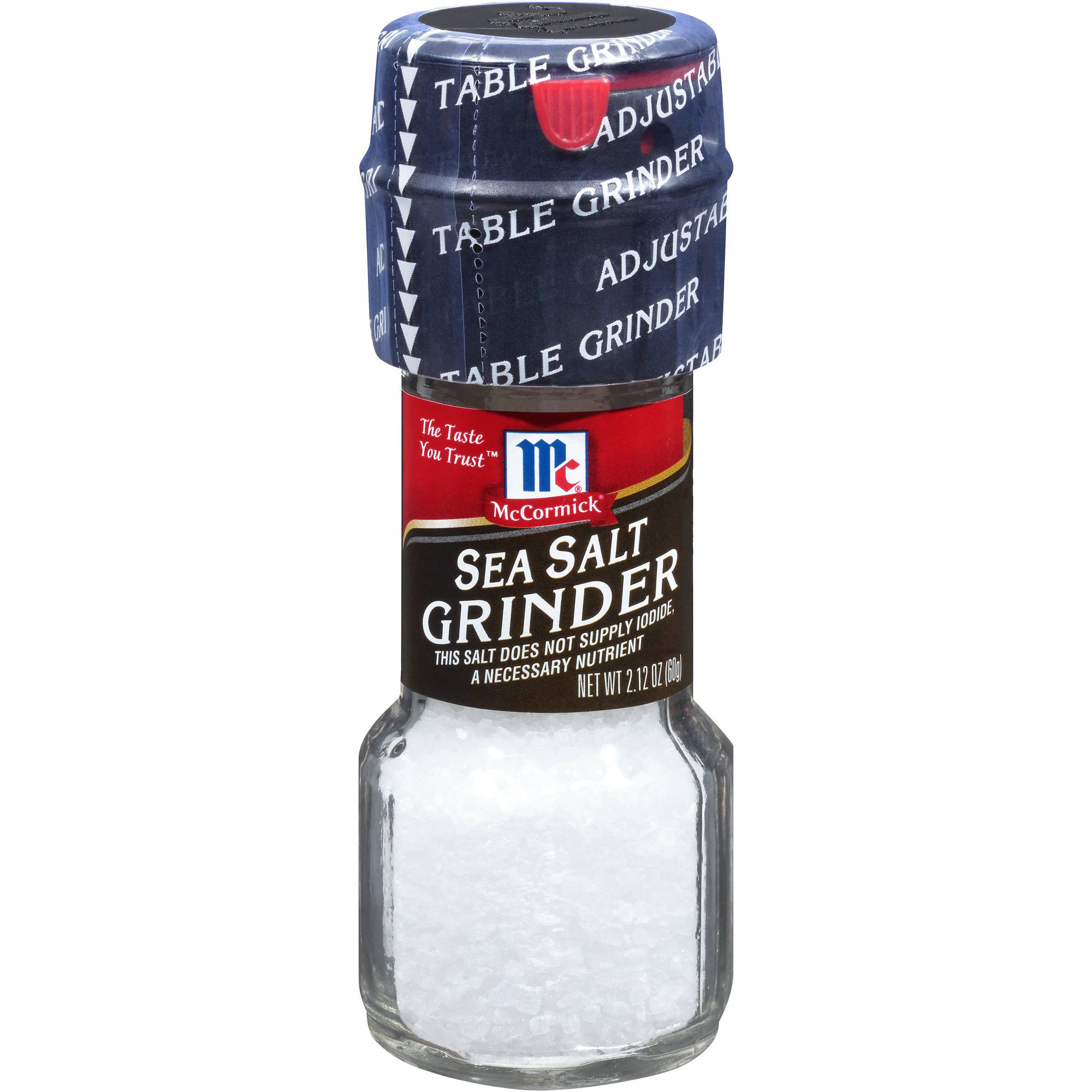 McCormick Sea Salt Grinder, 2.12 oz