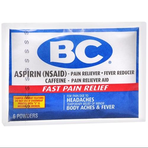 BC Original Formula Pain Relief Powders 6 Each (Pack of 3)