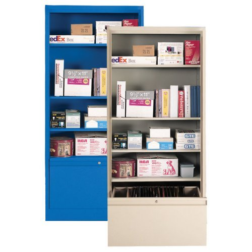 Bookcase with File Drawer Black BD1036184209 METBD1036184209
