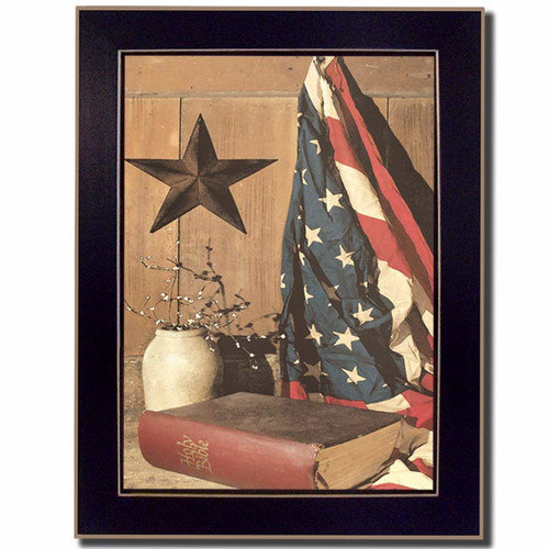 Trendy Decor 4U God and Country by Billy Jacobs Framed Painting Print