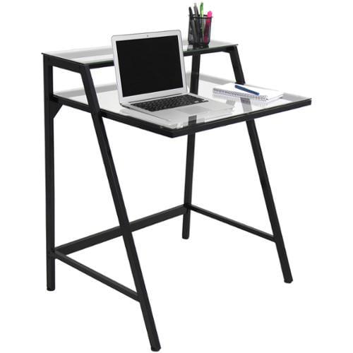 2-Tier Modern Computer Desk / Workstation 2-Tier Computer Desk Black