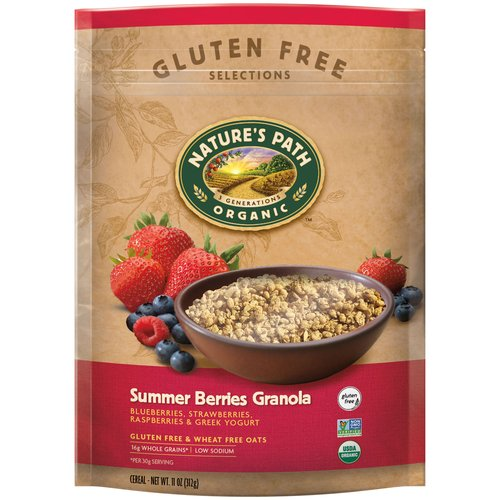 Nature's Path Organic Gluten Free Selections Summer Berries Granola, 11 oz