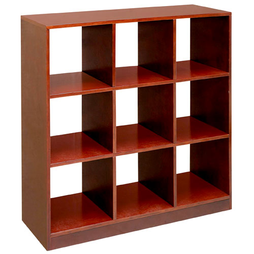 Badger Basket - 9 Cubby Storage Unit, Cherry