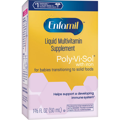 Poly-Vi-Sol Multivitamin Supplement Drops w/Iron - 1.67 Oz