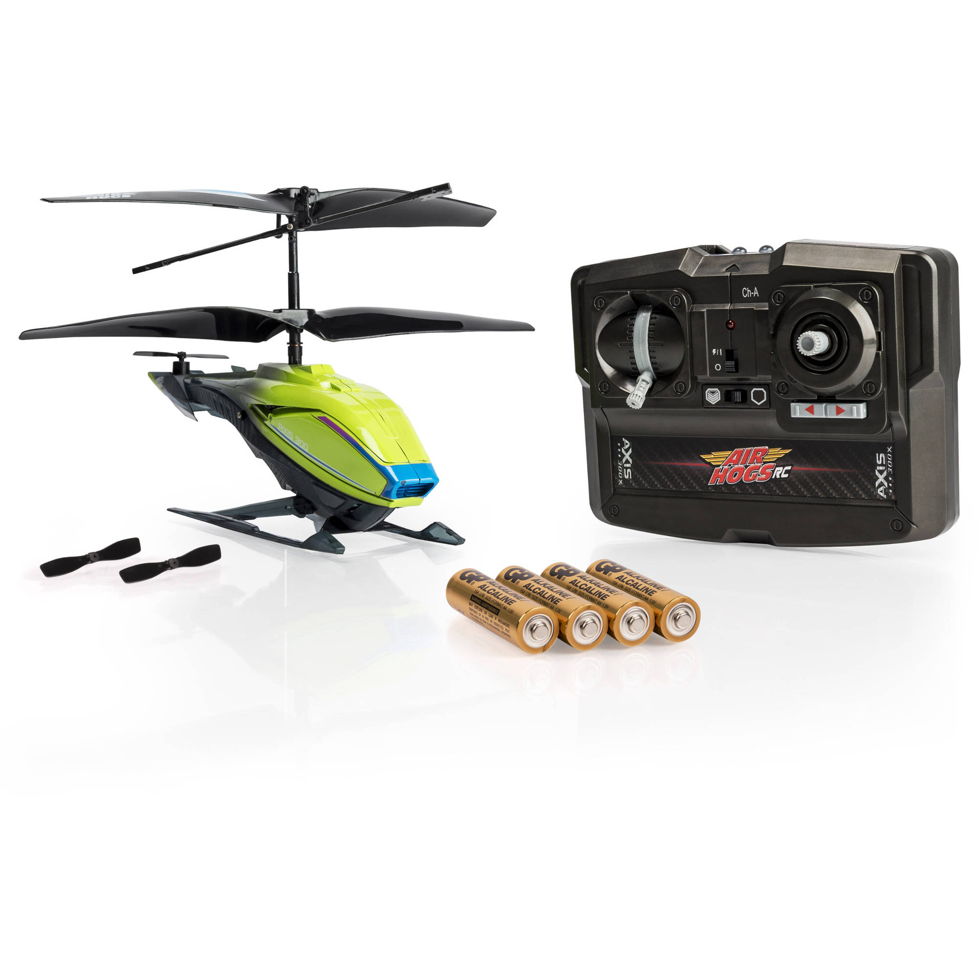 Air Hogs RC Axis 300X, Green R/C Helicopter with Batteries