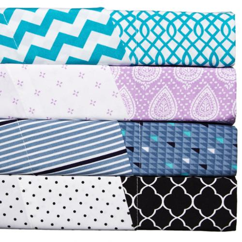 'Mitch and Max' Polyester Reversible Print Sheet Set Twin - Alissa/Turquoise