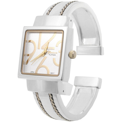 Brinley Co. Women's Polished Square Face Watch