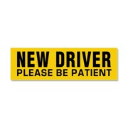 CafePress - New Driver - Be Patient - Car Magnet 10 x 3